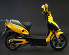 Yellow electric bike close up