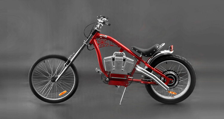 Bikes Electric Choppers red electric chopper bike
